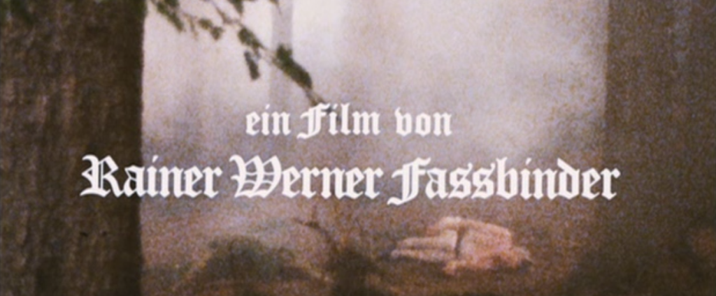 Directed By Fassbinder